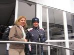 mit Rubens Barrichello in der Williams-Lounge